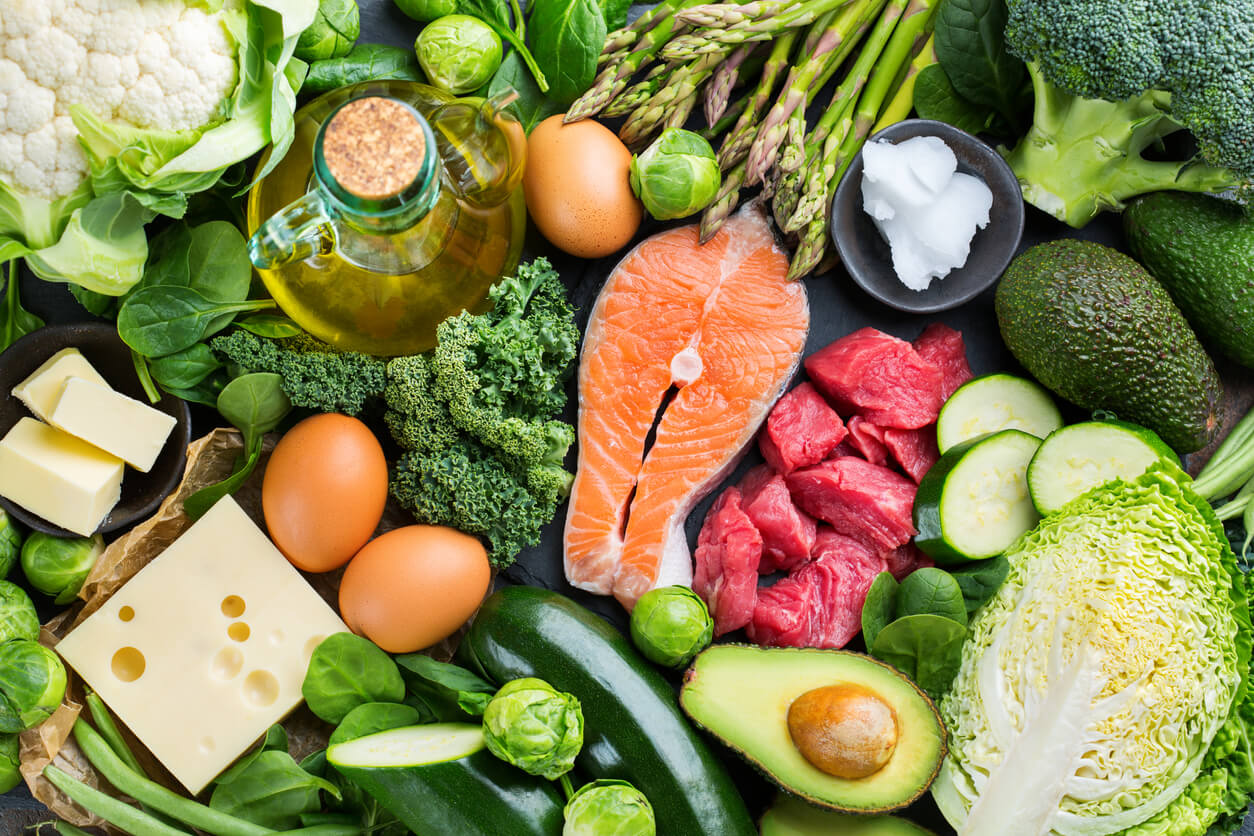 Foods in a typical fad diet.
